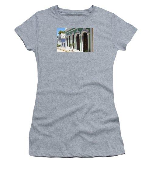Old San Juan Street Women's T-Shirt (Junior Cut) by The Art of Alice Terrill