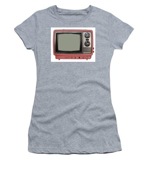 Vintage Tv Set Women's T-Shirt (Junior Cut) by Les Palenik