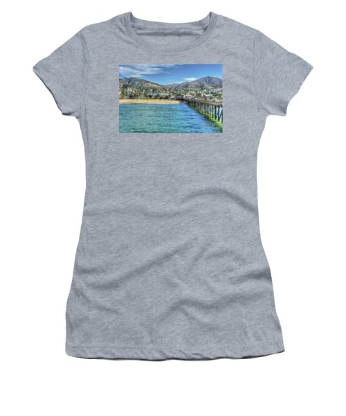 Old Ventura City From The Pier Women's T-Shirt (Athletic Fit)