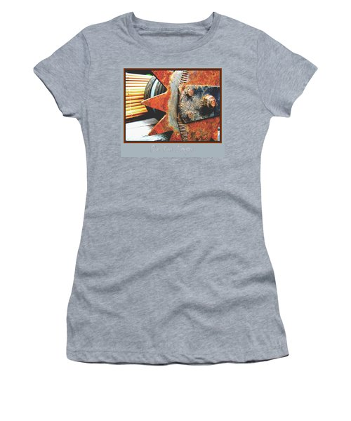 Women's T-Shirt (Junior Cut) featuring the photograph On The Edge Edged by Brooks Garten Hauschild