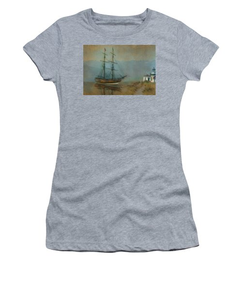 On The Water Women's T-Shirt (Junior Cut) by Jeff Burgess