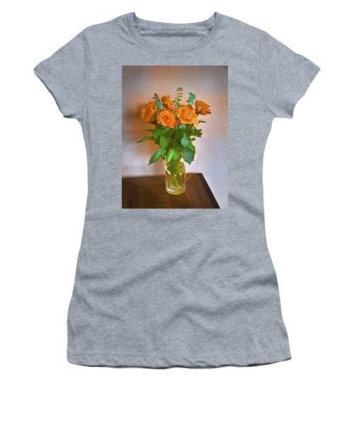 Women's T-Shirt (Junior Cut) featuring the photograph Orange And Green by John Hansen