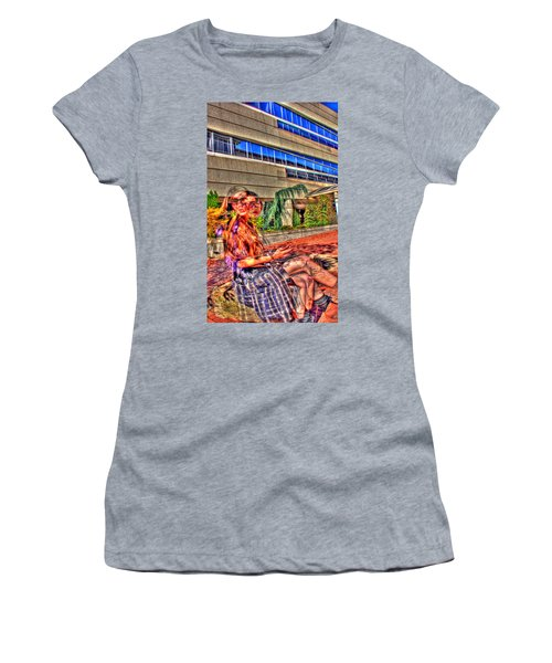 Women's T-Shirt (Junior Cut) featuring the photograph Out Of Phase 2 by Andy Lawless