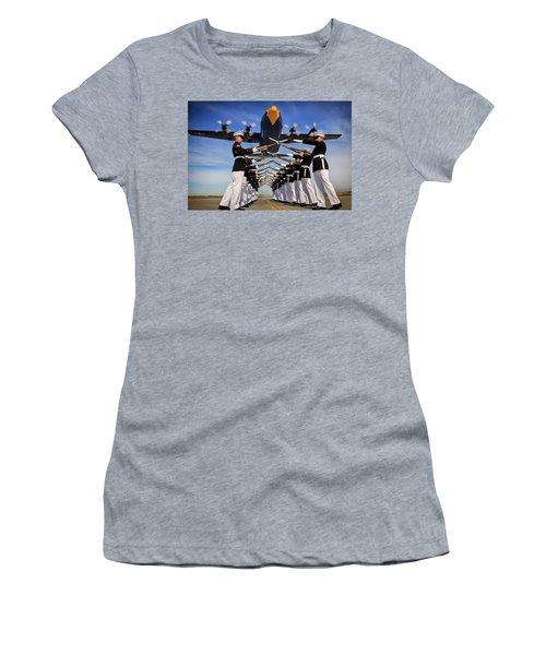 Over The Marine Corps Silent Drill Platoon Women's T-Shirt