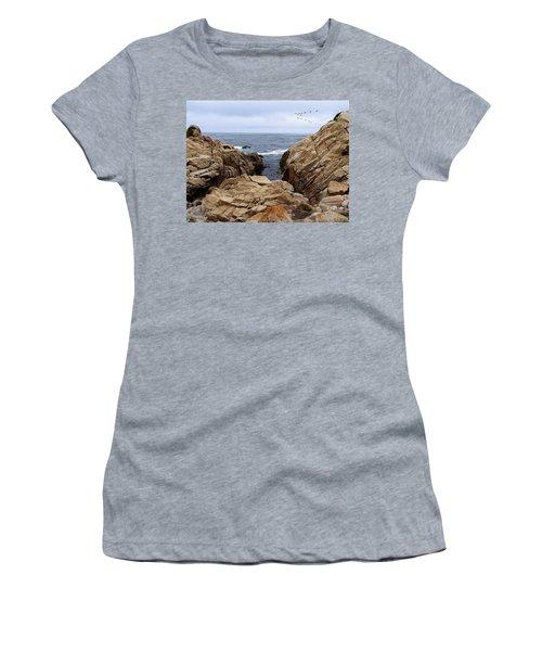 Overcast Day At Pebble Beach Women's T-Shirt