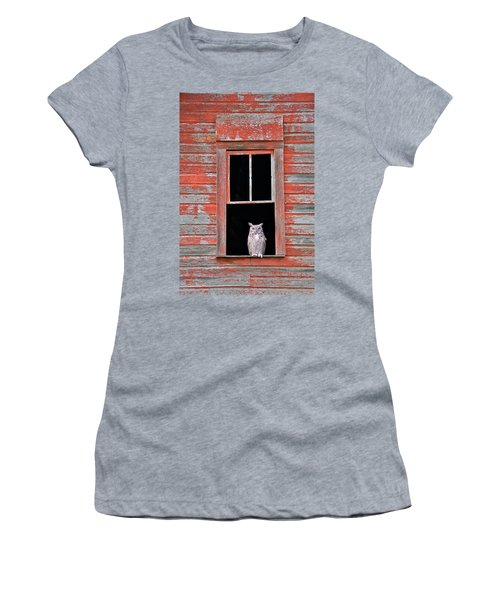Owl Window Women's T-Shirt (Athletic Fit)