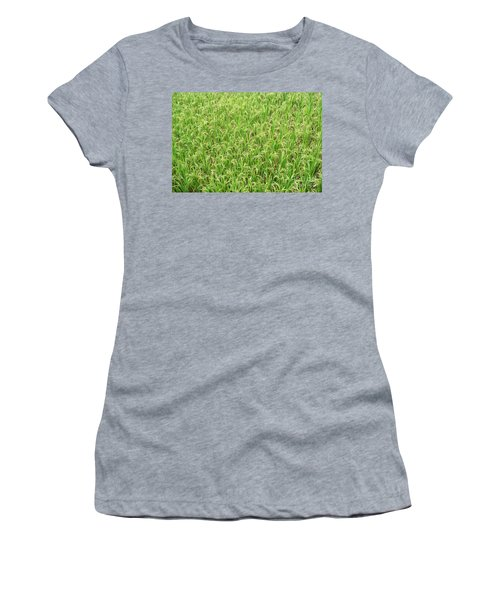 Women's T-Shirt (Junior Cut) featuring the photograph Paddy Field by Yew Kwang