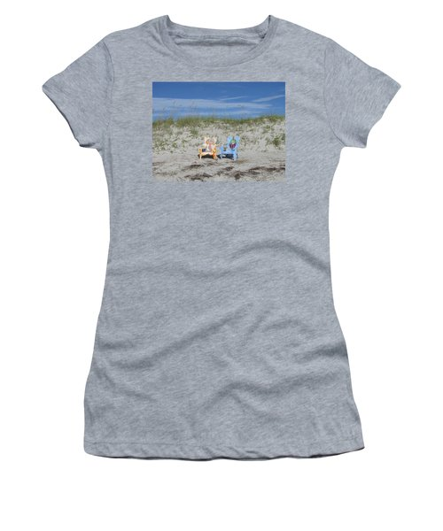Painted Beach Chairs Women's T-Shirt (Athletic Fit)