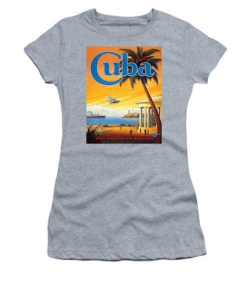 Pan Am Cuba  Women's T-Shirt (Athletic Fit)