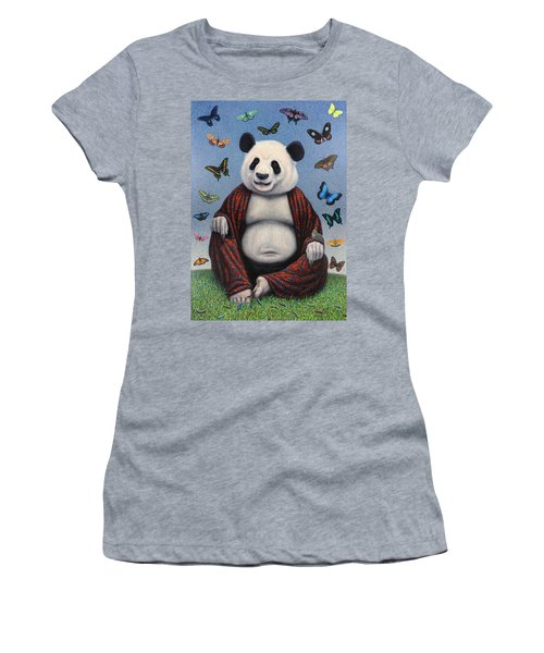 Panda Buddha Women's T-Shirt (Athletic Fit)