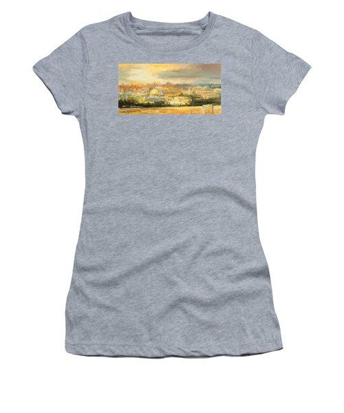 Panorama Of Jerusalem Women's T-Shirt (Athletic Fit)