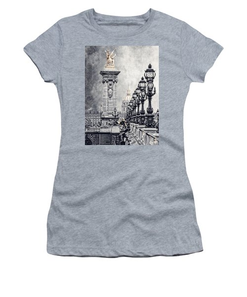 Paris Pompous 2 Women's T-Shirt (Athletic Fit)