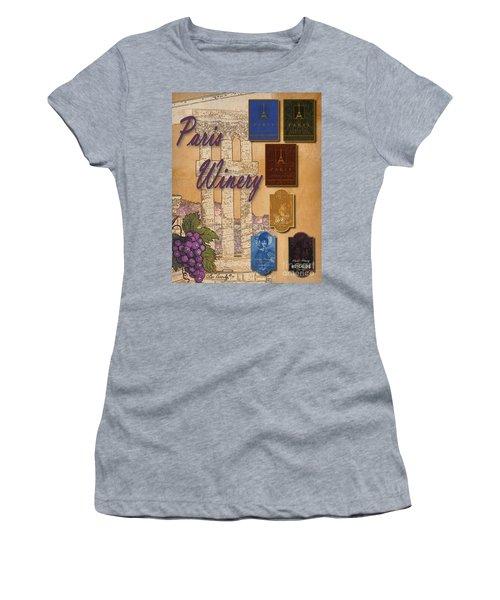 Paris Winery Labels Women's T-Shirt