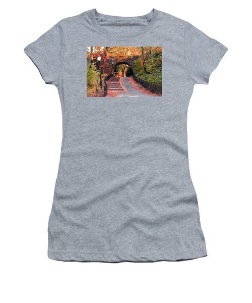 Path Of Leaves Women's T-Shirt (Athletic Fit)