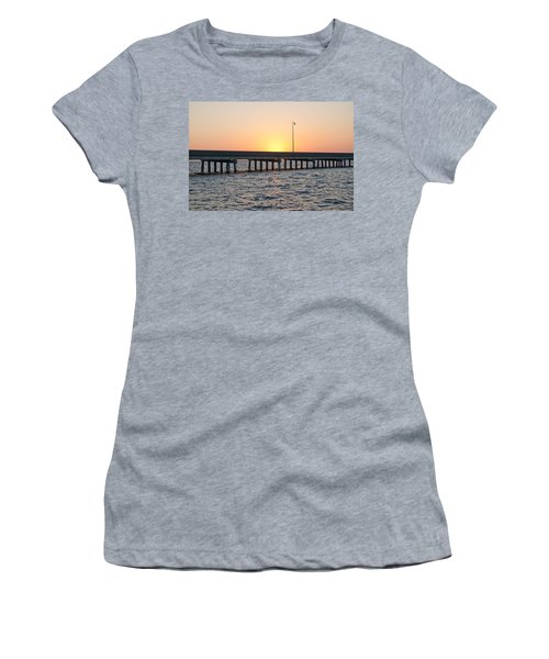 Peace River Bridge - Punta Gorda Florida Women's T-Shirt (Athletic Fit)