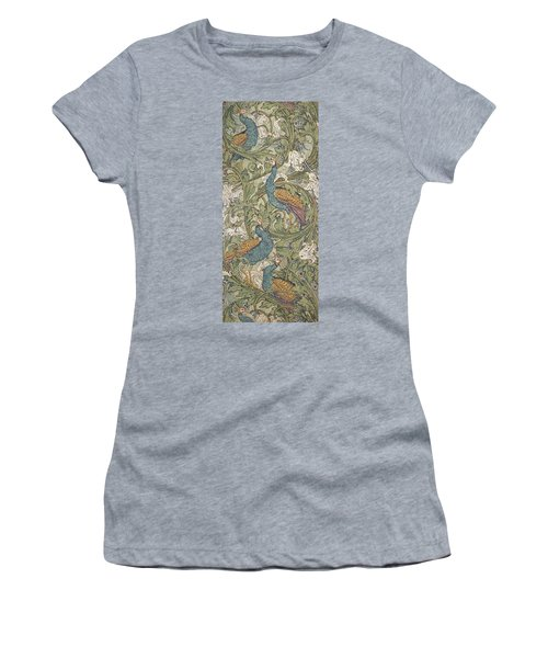 Peacock Garden Wallpaper Women's T-Shirt