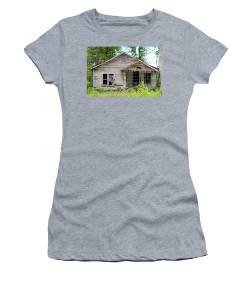 Peeking In At The Past Women's T-Shirt (Athletic Fit)