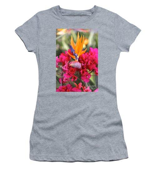 Peeking Through  Women's T-Shirt (Athletic Fit)