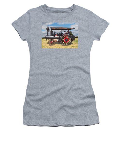 Women's T-Shirt featuring the digital art Peerless Steam Traction Engine by Paul Gulliver