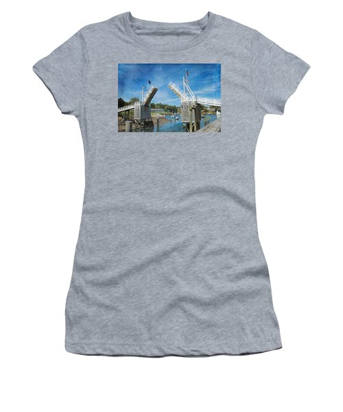 Perkins Cove Drawbridge Textured Women's T-Shirt