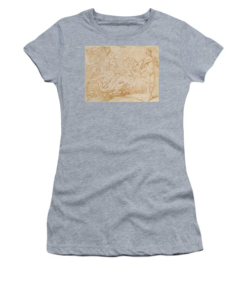 Perseus Rescuing Andromeda Red Chalk On Paper Women's T-Shirt