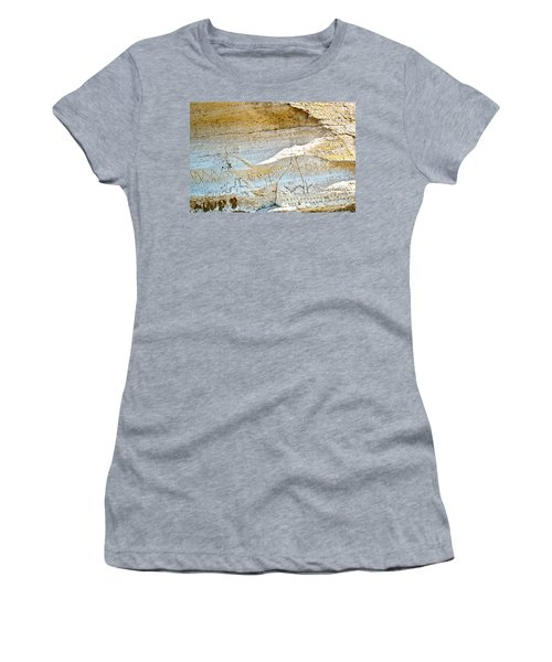 Petroglyphs At Petroglyph Point In Lava Beds Nmon-ca Women's T-Shirt (Athletic Fit)