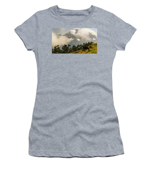 Peru Mountains With Cow Women's T-Shirt