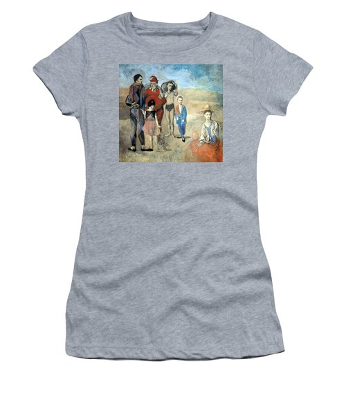 Picasso's Family Of Saltimbanques Women's T-Shirt (Athletic Fit)