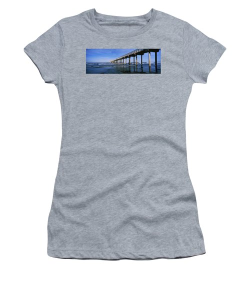 Pier In The Pacific Ocean, Scripps Women's T-Shirt