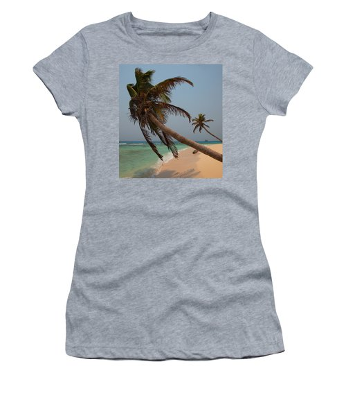 Pigeon Cays Palm Trees Women's T-Shirt (Athletic Fit)