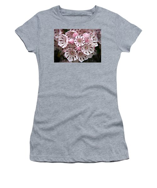 Pink Flowered Mountain Laurel Women's T-Shirt (Athletic Fit)