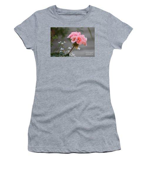 Pink Geranium Women's T-Shirt (Junior Cut) by Leone Lund