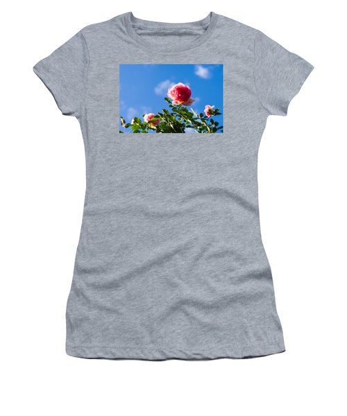 Pink Roses - Featured 3 Women's T-Shirt (Athletic Fit)