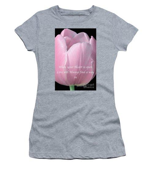Pink Spring Tulip Women's T-Shirt (Junior Cut) by Jeannie Rhode