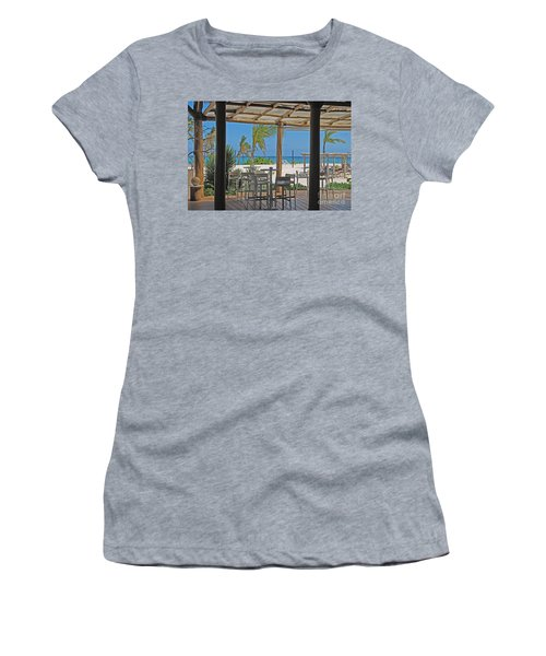 Playa Blanca Restaurant Bar Area Punta Cana Dominican Republic Women's T-Shirt (Athletic Fit)