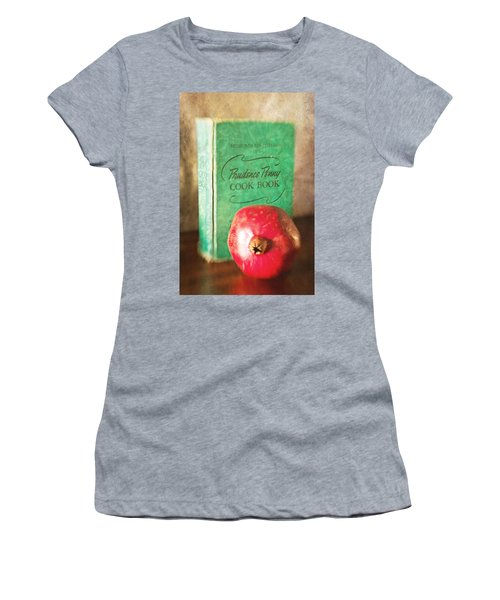 Pomegranate And Vintage Cook Book Still Life Women's T-Shirt