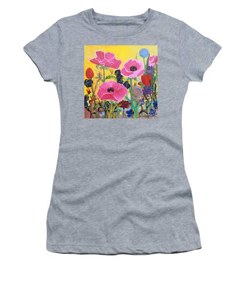 Poppies And Time Traveler Women's T-Shirt