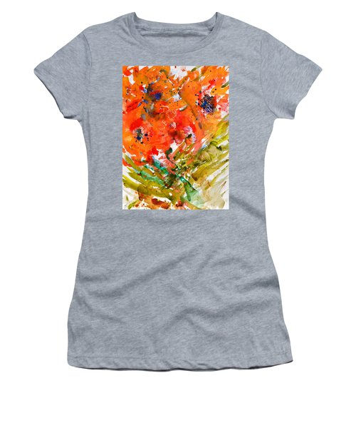 Poppies In A Hurricane Women's T-Shirt (Athletic Fit)