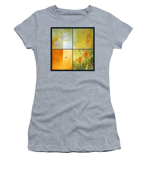 Poppy Pollination Women's T-Shirt (Athletic Fit)