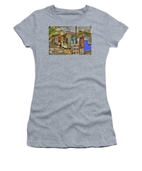 Portland Food Carts Women's T-Shirt (Junior Cut) by David Bearden