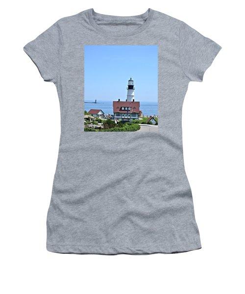 Portland Head Light Women's T-Shirt (Athletic Fit)