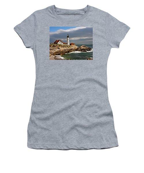 Portland Headlight Women's T-Shirt (Junior Cut) by John Haldane