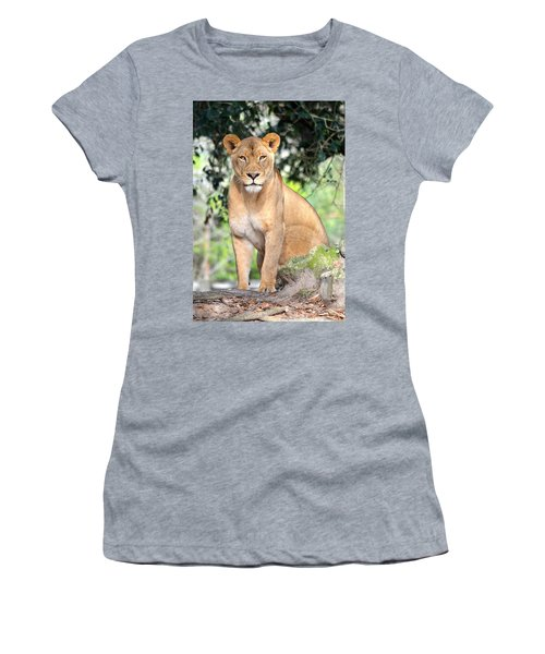 Portrait Of A Proud Lioness Women's T-Shirt (Athletic Fit)