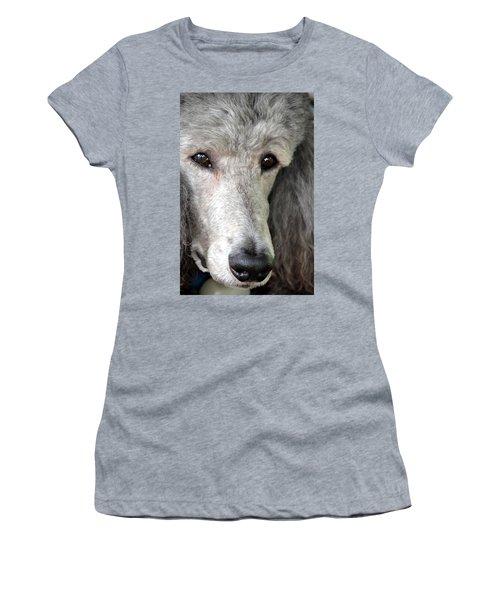 Portrait Of A Silver Poodle Women's T-Shirt (Athletic Fit)