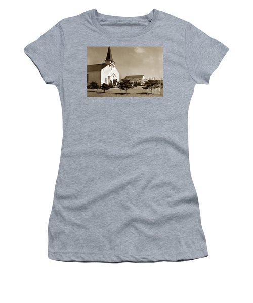 Post Chapel And Red Cross Building Fort Ord Army Base California 1950 Women's T-Shirt