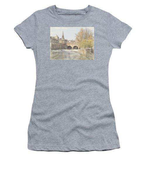 Pulteney Bridge Bath Women's T-Shirt (Athletic Fit)