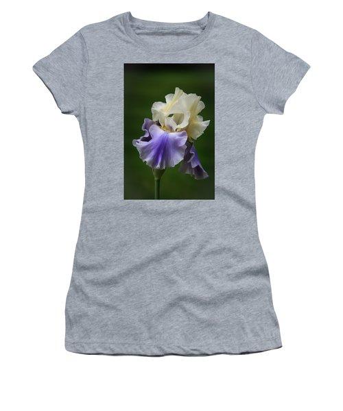 Purple Cream Bearded Iris Women's T-Shirt (Junior Cut) by Patti Deters