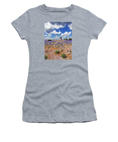 Purple Flower Countryside Women's T-Shirt