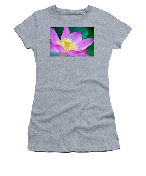 Purple Lotus Blossom Women's T-Shirt (Athletic Fit)