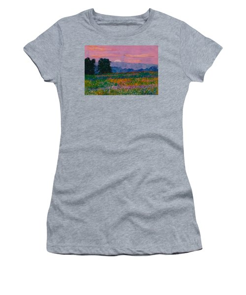 Purple Sunset On The Blue Ridge Women's T-Shirt (Athletic Fit)